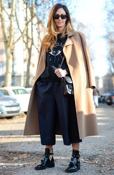 03a580e75 С чем и как носить брюки кюлоты: как правильно носить и с чем ...