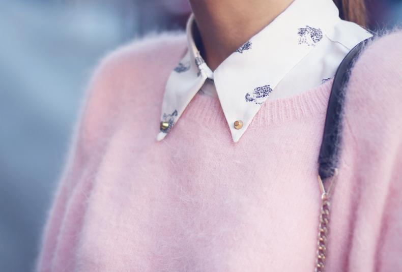 луки с розовым кардиганом