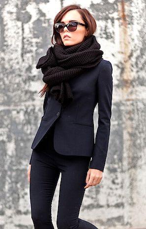 черный цвет в одежде