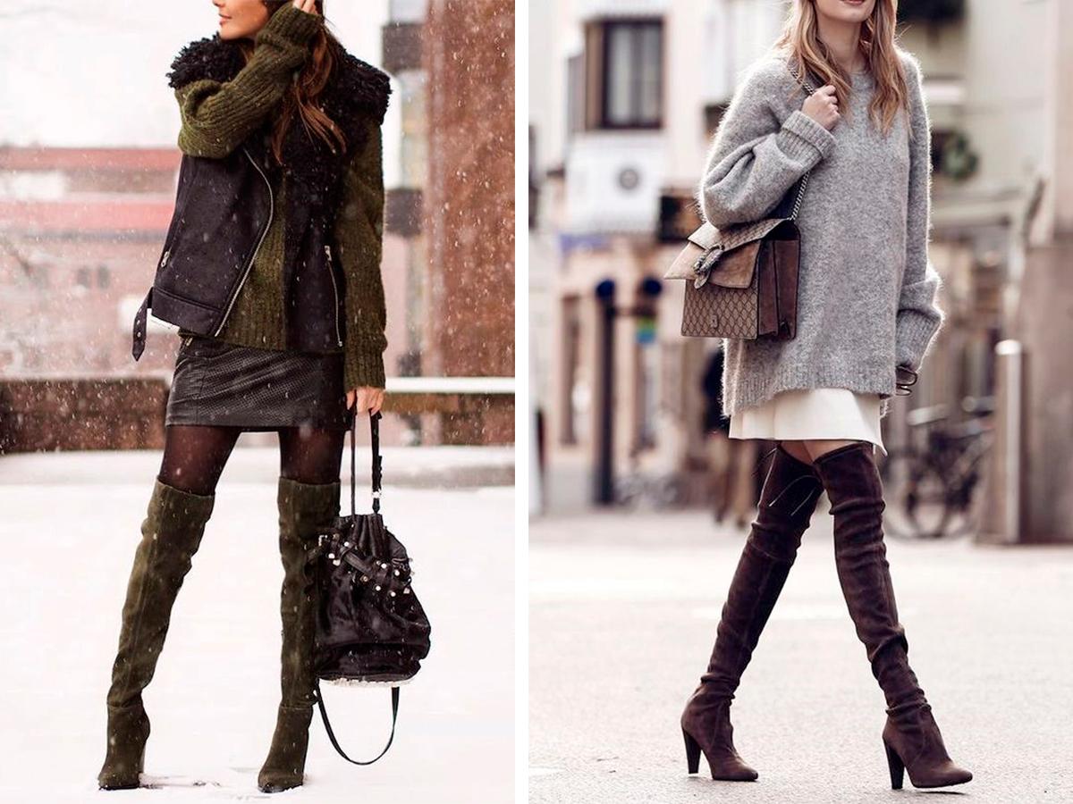 Как выбрать сапоги-ботфорты и с чем их носить и сочетать!