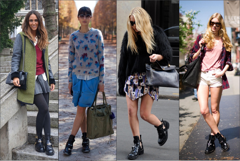 что носить с ботинками без каблука фото