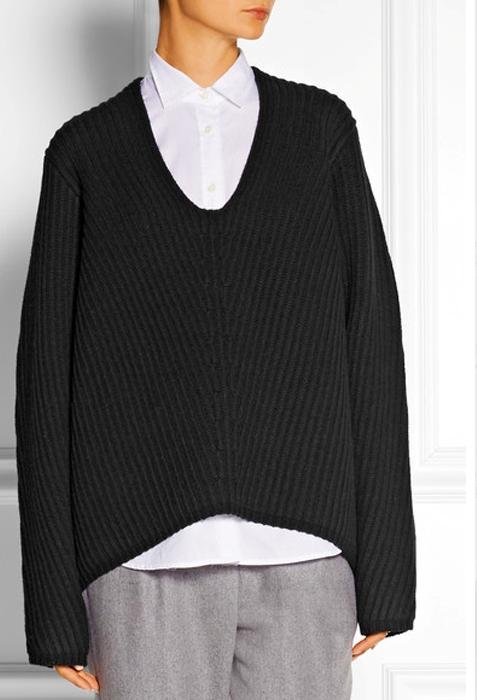 свитер с рубашкой