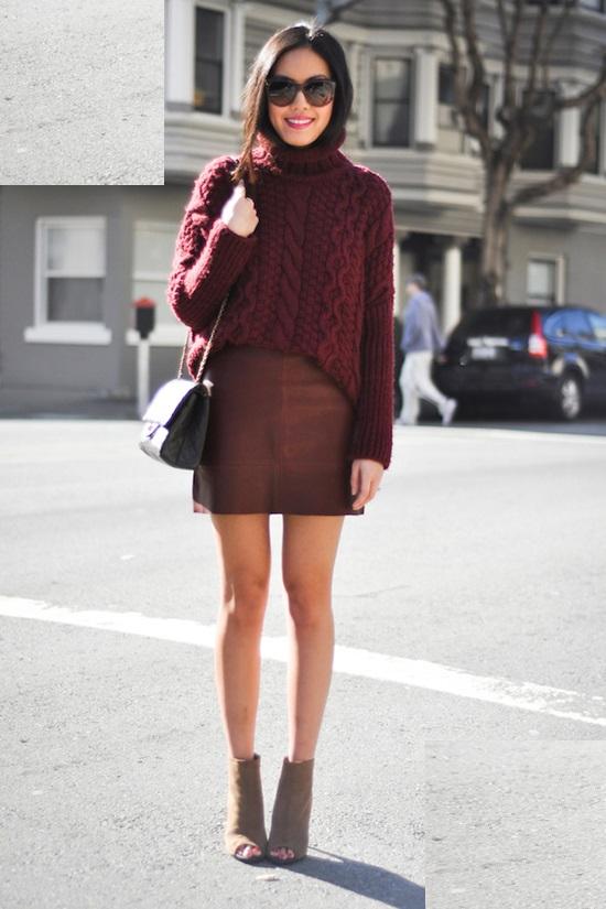 с чем носить свитер