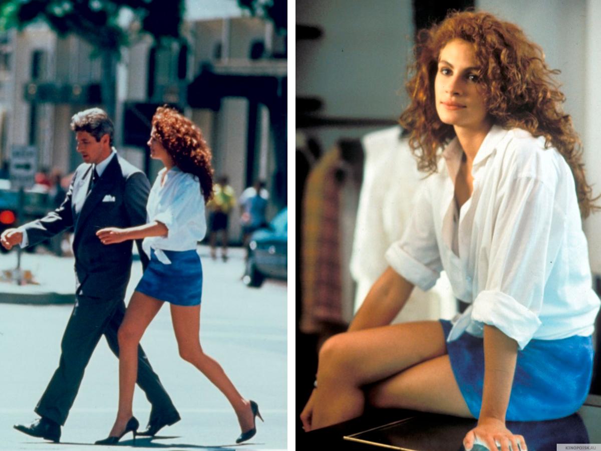fa4bace18ba образ из фильма красотка. В итоге шопинг заканчивается элегантным белым  платьем ...