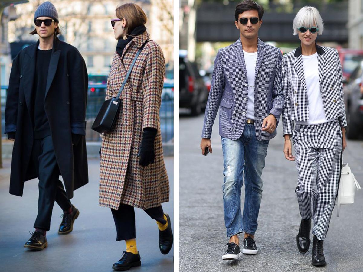 Как паре одеться в одном стиле? Фото стильно одетых пар / Школа Шопинга