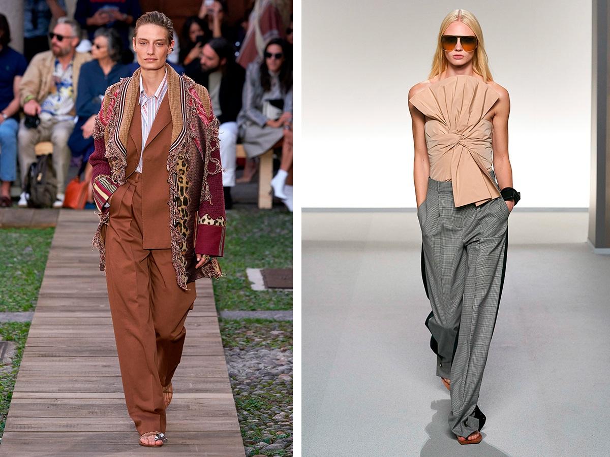 Широкие брюки Etro, Givenchy.