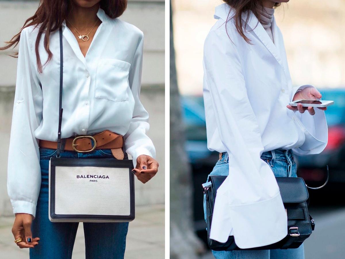 48e899c41a9 С чем носить белую блузку. Что носить со светлой рубашкой   Школа ...
