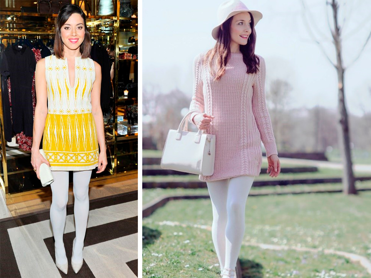 Белые чулки юбка — img 13